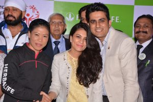 with Mary Kom (Olympic Medalist, World Boxing Champion)