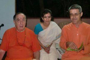With Swami Mahadevananda (Senior disciple of Swami Sivananda)