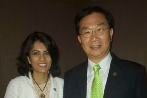 With President, International Society of Nutraceuticals and Functional Foods; Honorary President , Nutrition Society of Taiwan
