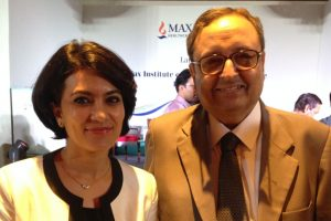 With Dr. Jhulka, Director Max Oncology Day Care Center