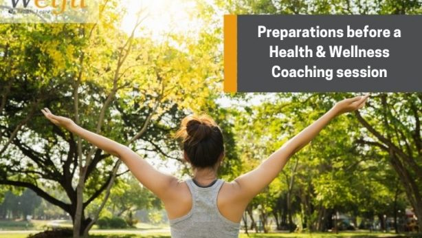Preparations before a health and wellness coaching session